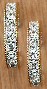 Montana Silversmiths® Silver with Gold and Crystals Large Hoop Earrings $37.00 FOR ME