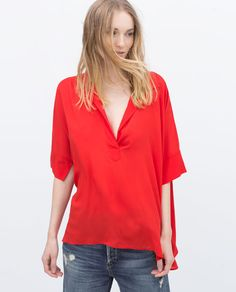 ZARA - WOMAN - BLOUSE WITH LOOSE SLEEVE