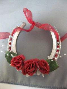 Authentic Thoroughbred Race Horse Decorated Horseshoe by janisbell, $12.00