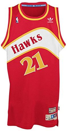 74261da3dad8 Dominique Wilkins Atlanta Hawks Hardwood Classics Adidas Throwback Swingman  Jersey.  basketball  jersey