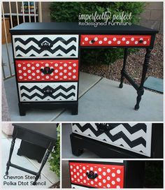 Be Back to School Cool With A Stenciled Desk « Stencil Stories