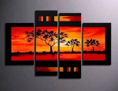 cuadros modernos tripticos polipticos abstractos paisajes
