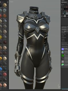 ArtStation - 金属套装,Shin JeongHo Female Character Design, Character Modeling, Character Design Inspiration, Character Art, Anime Outfits, Mode Outfits, Female Armor, Female Cyborg, Super Hero Outfits