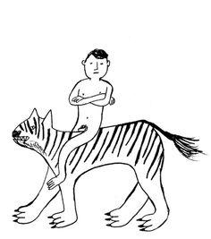 Rob Hodgson, Self Portrait with Tiger