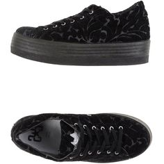 2star Sneakers ($44) ❤ liked on Polyvore featuring shoes, sneakers, black, black shoes, velvet sneakers, wedge trainers, black wedge shoes and black wedge heel sneakers