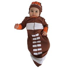 Sozo Babyboys Newborn Football Bunting and Cap Set Brown 06 Months -- Click image for more details.Note:It is affiliate link to Amazon.