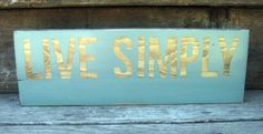 Live Simply Rustic Wooden Sign Wall Hanging by HollowGlen on Etsy, $25.00