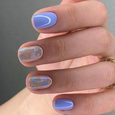 Trendy Nails, Cute Nails, Pretty Short Nails, Short Nail Designs, Dream Nails, Pedicure Nails, Perfect Nails, Nail Trends, Nail Tips