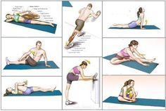 The 9 Best Stretches to Stay in Shape — Step To Health Physical Fitness, Yoga Fitness, Fitness Tips, Health Fitness, Fun Workouts, At Home Workouts, Biceps Femoral, Best Workout Plan, Best Stretches