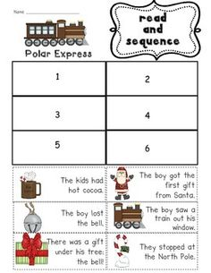 Use this printable after reading The Polar Express!    This is part of my Polar Express Unit: Polar Express Unit