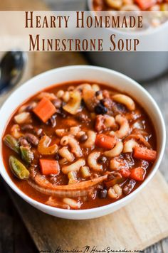 Hearty Homemade Minestrone Soup