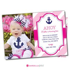 CUTEST PARTY INVITATION & PARTY THEME IVE SEEN LATELY!  Nautical Invitation Nautical Birthday Invitation by GardellaGlobal