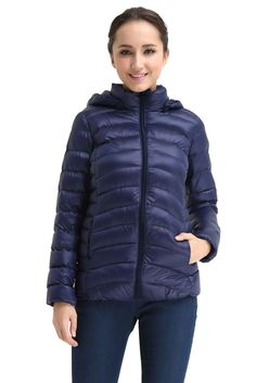 Belle Hooded Down 3-in-1 Maternity Jacket in Navy. Please use coupon code NewProducts to receive 15% off these items. To receive the discount, please place your order by midnight Monday, March 2, 2015