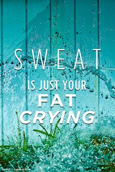 sweat is just your fat crying