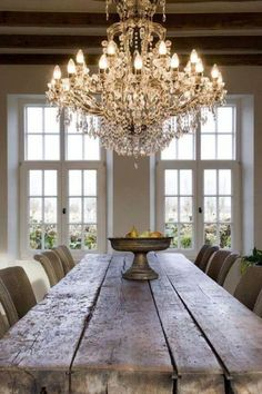 Love the mixture of rustic and elegant