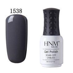 HNM 8ml Soak Off Gel Nail Polish UV LED Nail Gel Polish 58 Colors Gelpolish Vernis Semi Permanent Nail Art Gel Varnishes Gel Lak