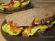 Receta Plato : Sandwich gourmet de pollo al curry por Anita Cocinitas