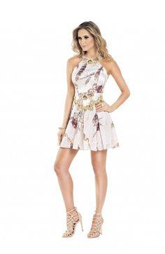 VESTIDO SARJA ACETINADA AVIZO WEAR - TAMANHO: - Vida Fashion Boutique