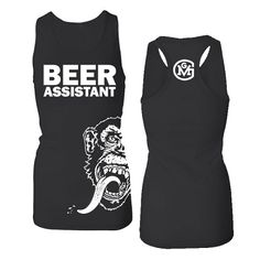 Gas Monkey Garage T-shirt; Ladies (Juniors Fit) Beer Assistant Black Racerback Tank $19.95 getting this!!!!!