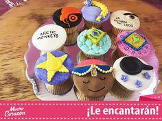 Cupcakes en fondant. Enredados, La Historia del Loco, Hindú  #MuchoCorazón #ReposteríaCasera
