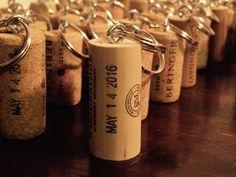 Wine Cork Keychains by HutchNCo on Etsy