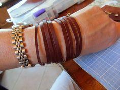 WobiSobi: Leather Cuff Bracelet, DIY