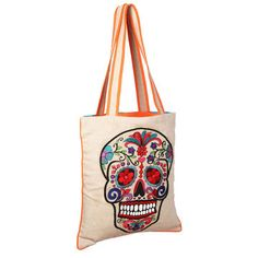 Sugar Skull Bag Natural, $36, now featured on Fab.
