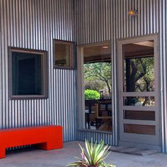 So rustic corten weathering steel metal siding homes pictures google search barn homes for Hot tin roof custom home design
