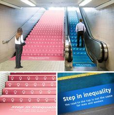 Case: Step In Inequality  本日はアメリカの広告専門学校・Miami Ad Schoolに通うShiina Kazunoriさんが手掛けた、職場における男女平等を訴えかける