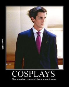 Wait. Why is Christian Bale cosplaying as Phoenix Wright? Did I miss something epic?