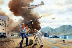 Warriors of Kaneohe, by Jim Laurier (Mitsubishi A6M2 Zero vs Consolidated PBY Catalina, Pearl Harbor Attack, Dec. 7 1941)