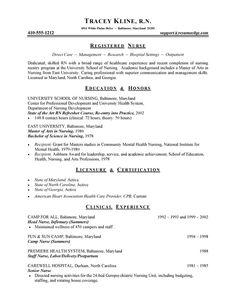 resumes for registered nurse