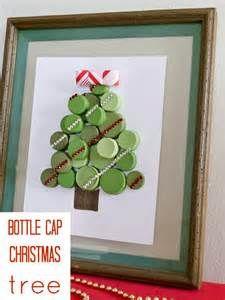 Bottle cap Christmas Tree {diy christmas decorations}