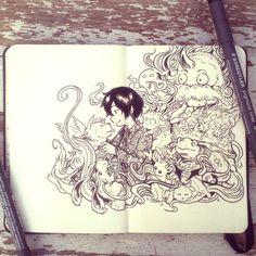 #32 My best imaginary friends by 365-DaysOfDoodles.deviantart.com on @deviantART