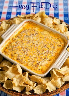 Hissy Fit Dip Recipe - sausage, sour cream, Velveeta, muenser, onion and garlic powder, Worcestershire sauce and parsley - SO good. You will definitely throw a hissy fit if you miss out on this dip! Crazy good! Can mix together and refrigerate a day before baking. Serve with chips and veggies! It is always gone in a flash!