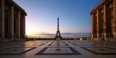 Trocadero at sunrise,Paris