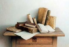 Pinturas Cuadros: Cuadros con libros óleo y alquídico