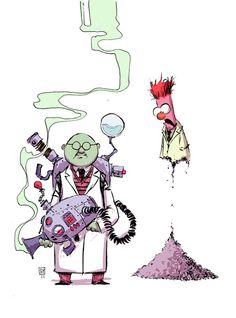 Bunsen and Beaker by Skottie Young