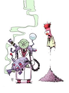 Bunsen and Beaker by Skottie Young