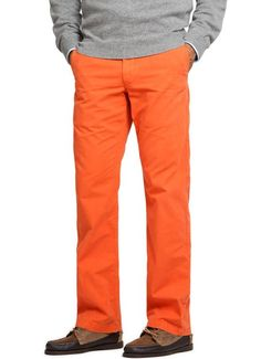 The Dutch in me wants these awesome chinos! Game Day Chinos - Orange  $88.00