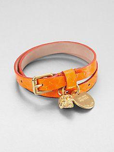 #Oranges - Alexander #McQueen Leather Buckle Bracelet