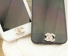 1PC Bling Crystal rhinestone   Apple iPhone 4/4s iphone 5 case Home Button Sticker, Apple iPhone Home Button Sticker,. $4.99, via Etsy.