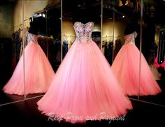 Strapless Pink Ball Gown