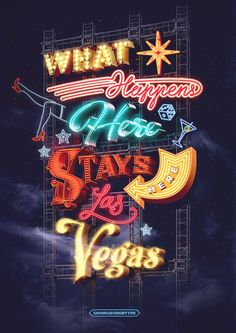 Some seriously awesome neon lettering going on here.    Selection of unseen print work 2011–14 on Behance