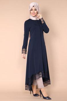 Dantel Detay Peplum Kap Laci Ürün kodu: AH2123 --> 119.90 TL Simple Pakistani Dresses, Pakistani Fashion Casual, Abaya Fashion, Muslim Fashion, Fashion Dresses, Hijab Evening Dress, Hijab Style Dress, Mode Abaya, Hijab Fashionista