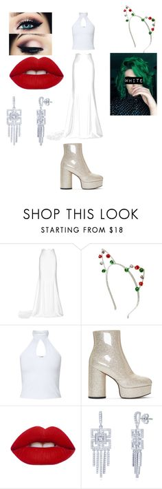 """Christmas Party"" by blossom-galaxy666 on Polyvore featuring Rime Arodaky, Miss Selfridge, Marc Jacobs, Lime Crime and BERRICLE"