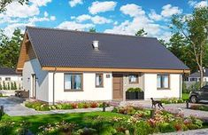Projekt domu Dom przy Bukowej 38 96,23 m² - koszt budowy - EXTRADOM Home Fashion, Gazebo, Outdoor Structures, Cabin, Mansions, House Styles, Garden, Outdoor Decor, Home Decor