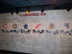 ''The Original Six''La base de la équipes qui ont chacun leur histoires. Boston Bruins, Nhl, Ranger, Temple, Photo Wall, Base, The Originals, Canadian Horse, Photograph