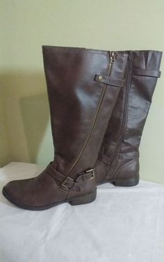 db1c8b36b3bb New Mossimo Supply Co Women s Brown Tall Riding Boots ~Extended Calf~ Sz 9 M