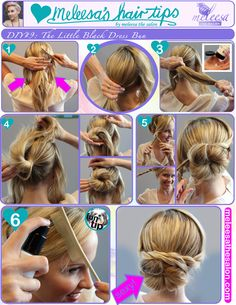 Style University- How to do an easy updo  #diy #meleesathesalon #updo #hairstyles